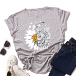 T-shirt Damski Flower R042 S-5XL