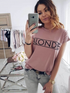 T-shirt z napisem BLONDE S-XL 02