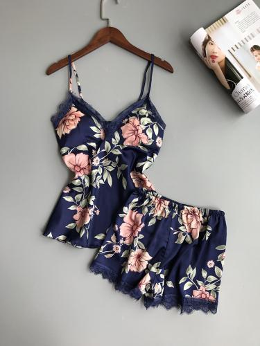 bbf4833149fac3 Satynowa piżama kwiaty M-XXL - Sklep internetowy Dybcia