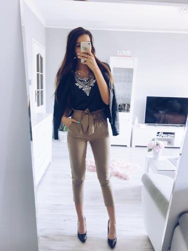 2c8ff7e818 Spodnie z wysoką talią Lady S-XL PAU - Sklep internetowy Dybcia