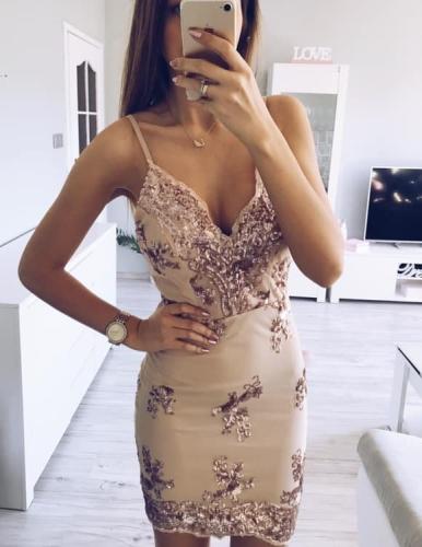 2c85efea5d Sukienka imprezowa w cekiny PAU - Sklep internetowy Dybcia