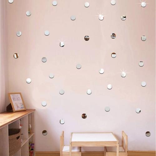 Naklejki Lustrzane Na ścianę 100 Sztuk