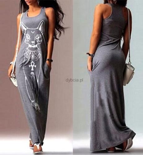 Długa sukienka KOT S XL Z053