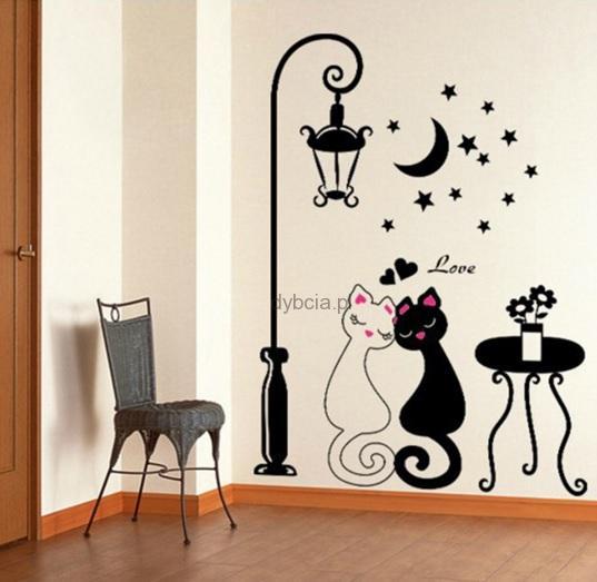 Naklejka Na ścianę Diy Pvc Koty Love Sklep Internetowy Dybcia