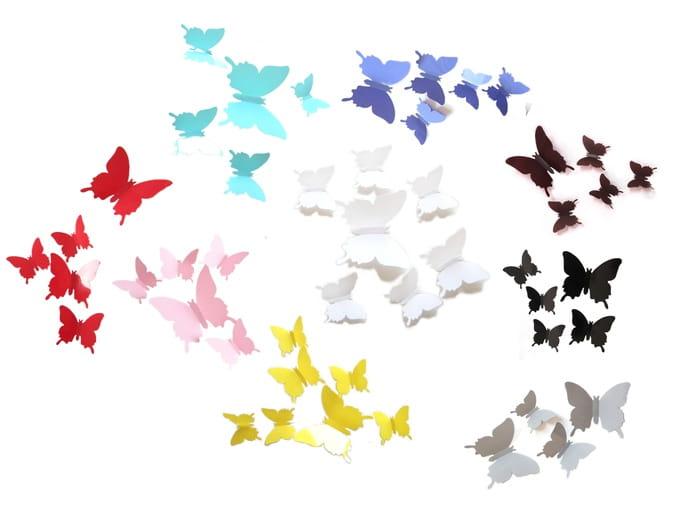 Motyle Motylki 3d Pcv Na ścianę