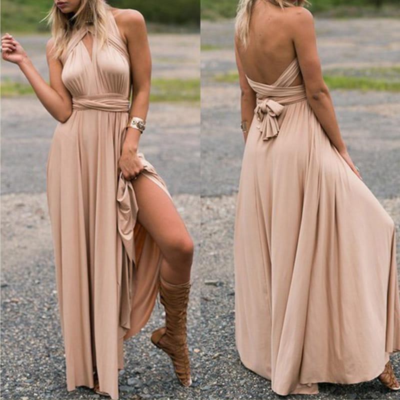 Długa sukienka 15 możliwości wiązań ! S XL Z032