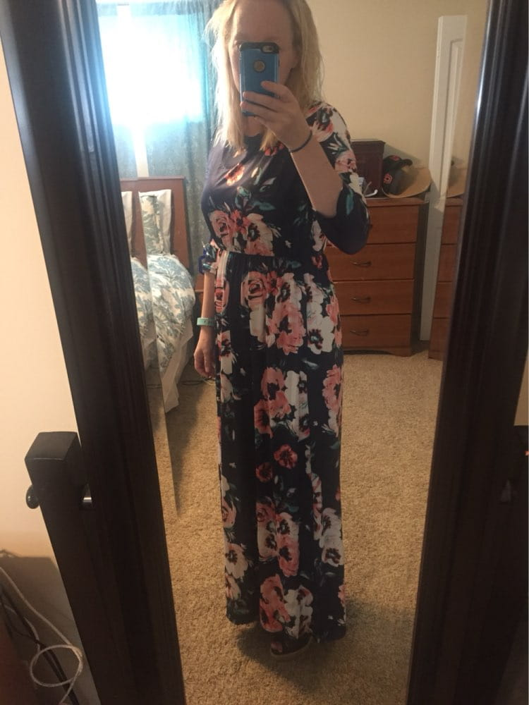 3b15829a9e Piękna długa sukienka FLORAL JESIEŃ WIOSNA S-3XL - Sklep ...