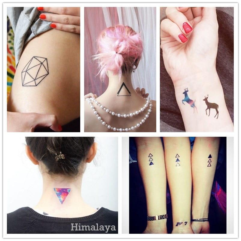 Tatuaże Wodoodporne Geometryczne Wzory